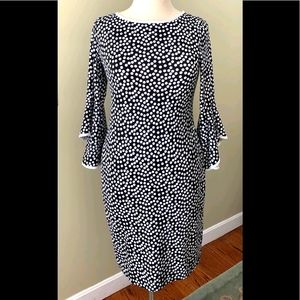 NIK and NASH Polka Dot Dress fitted dress Size S